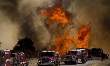 Diesel truck sediment likely started significant California out of control fire