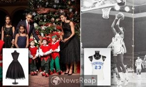 Obama items hit the auction circuit with dress, basketball jersey