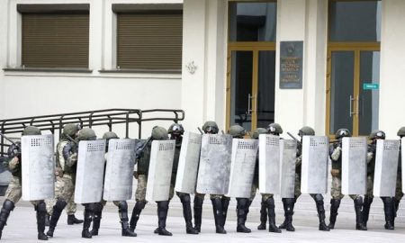 Belarusian police detain dozens of doctors ahead of anti-government rally