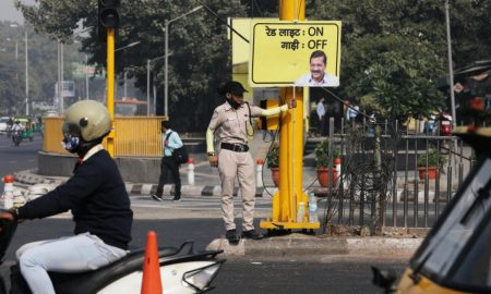Red light? Then turn engine off, Delhi urges motorists amid heavy pollution