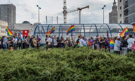 LGBT activists welcome rainbow light show in Poland, say more action needed