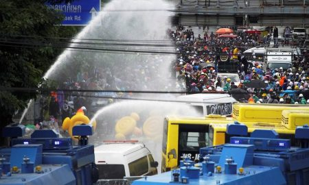 Eighteen hurt in Thailand's most violent protests since movement began