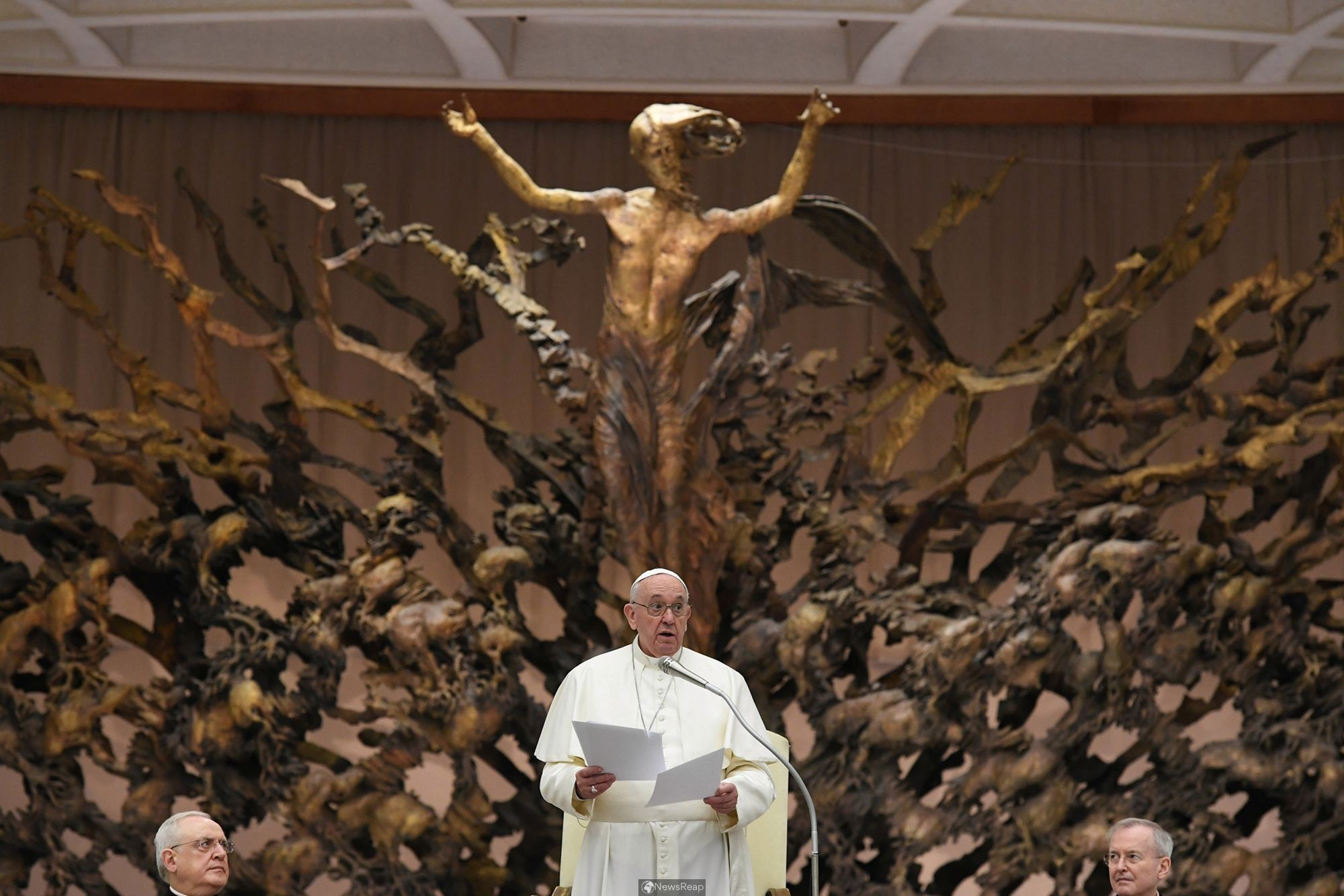 Pope promises Vatican workers no one will lose jobs because of pandemic