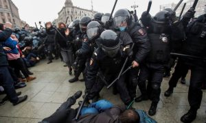 Police clamp down on Russian protests against jailing of Kremlin foe Navalny