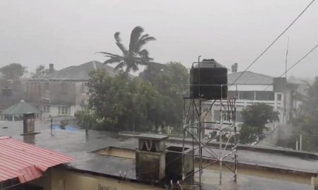 Cyclone hits Mozambique port city, brings property damage, flooding