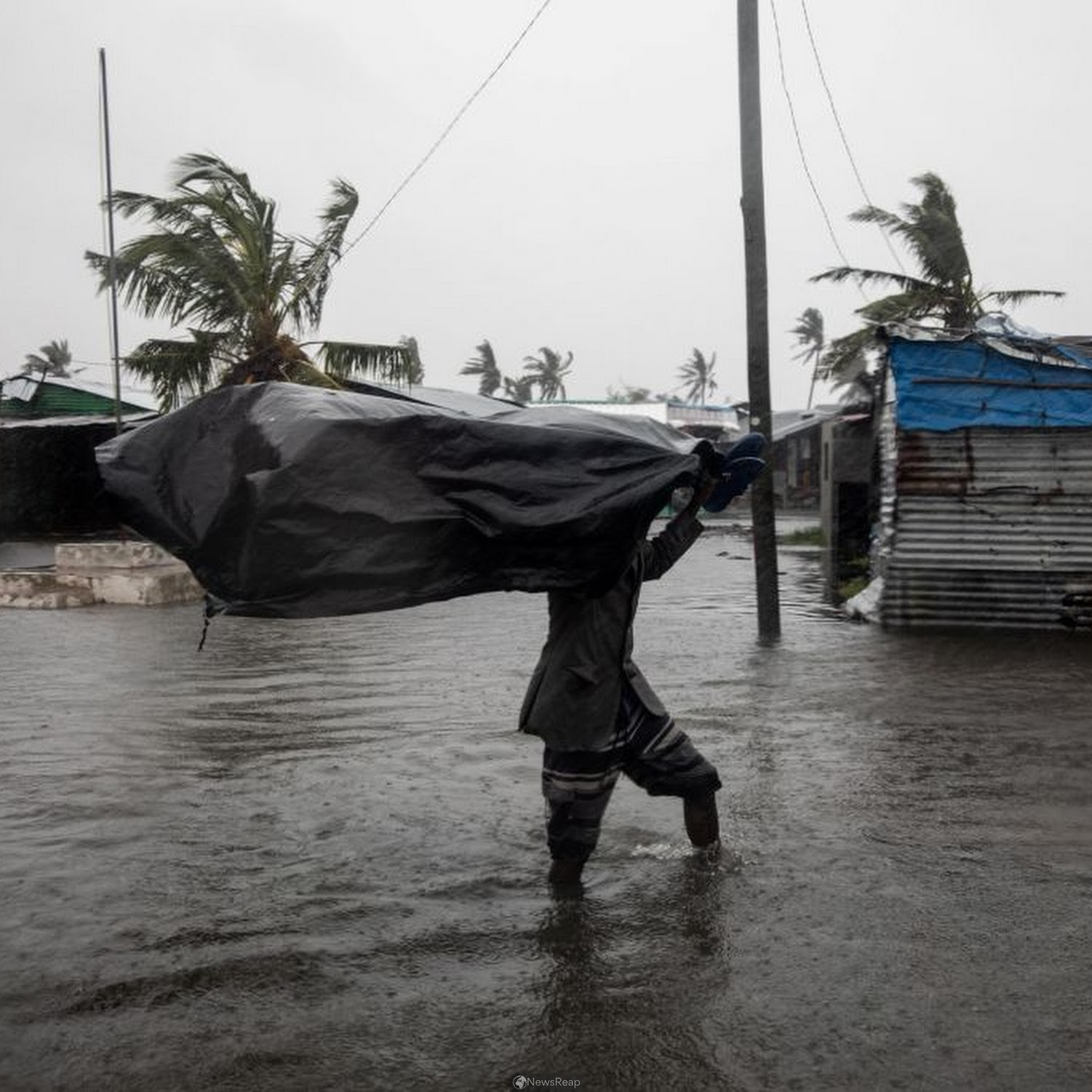 Severe winds wreck homes, displace thousands in Mozambique