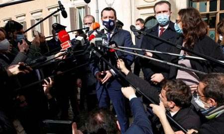 Italy's Salvini says no vetoes after meeting with Draghi