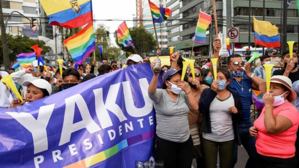 Surprise surge in support for anti-mining activist throws open Ecuador election