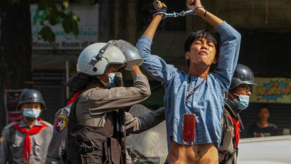 Myanmar police launch most extensive crackdown; one woman shot and wounded