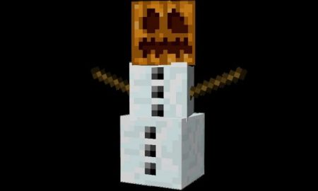 How to build a snowman in Minecraft