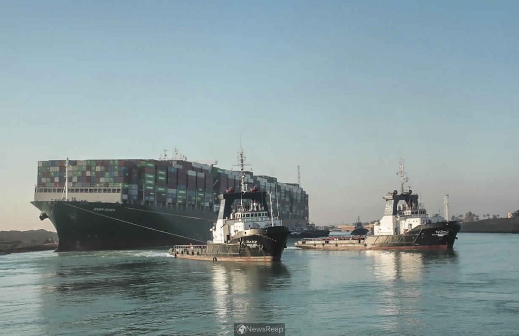 Traffic in Suez Canal resumes after stranded ship refloated