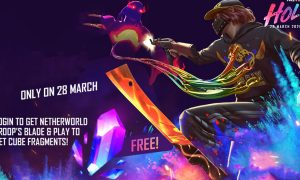 Free Fire Holi event brings a free Netherworld Troop's Blade for all players