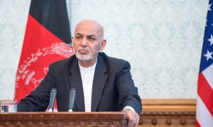 Unlikely allies Russia and U.S. push Afghan enemies to accept interim government