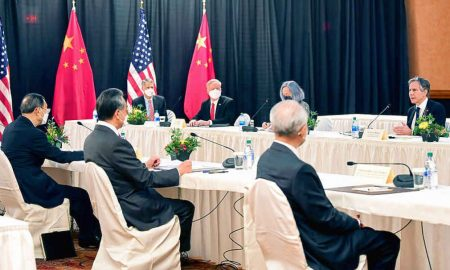 U.S., Chinese diplomats clash in first high-level meeting of Biden administration