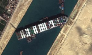 Ship blocking Suez Canal moves slightly, unclear when it will refloat