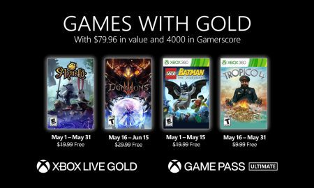 Xbox new Games with Gold for May 2021 announced
