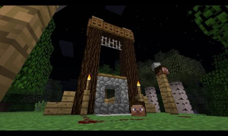Minecraft Pointed Dripstone Used To Build Functioning Guillotine