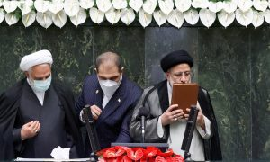 Hardline cleric Raisi was sworn in as Iran president amid tensions with West